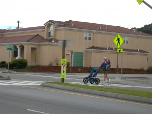Mission: Pedestrian supports median islands on busy streets.